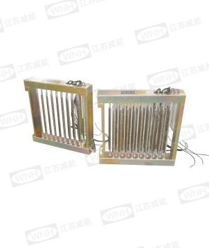 Auxiliary electric heater for air duct type central air conditioner